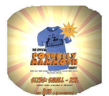Potbelly Mammoth Tshirt! Just $15!