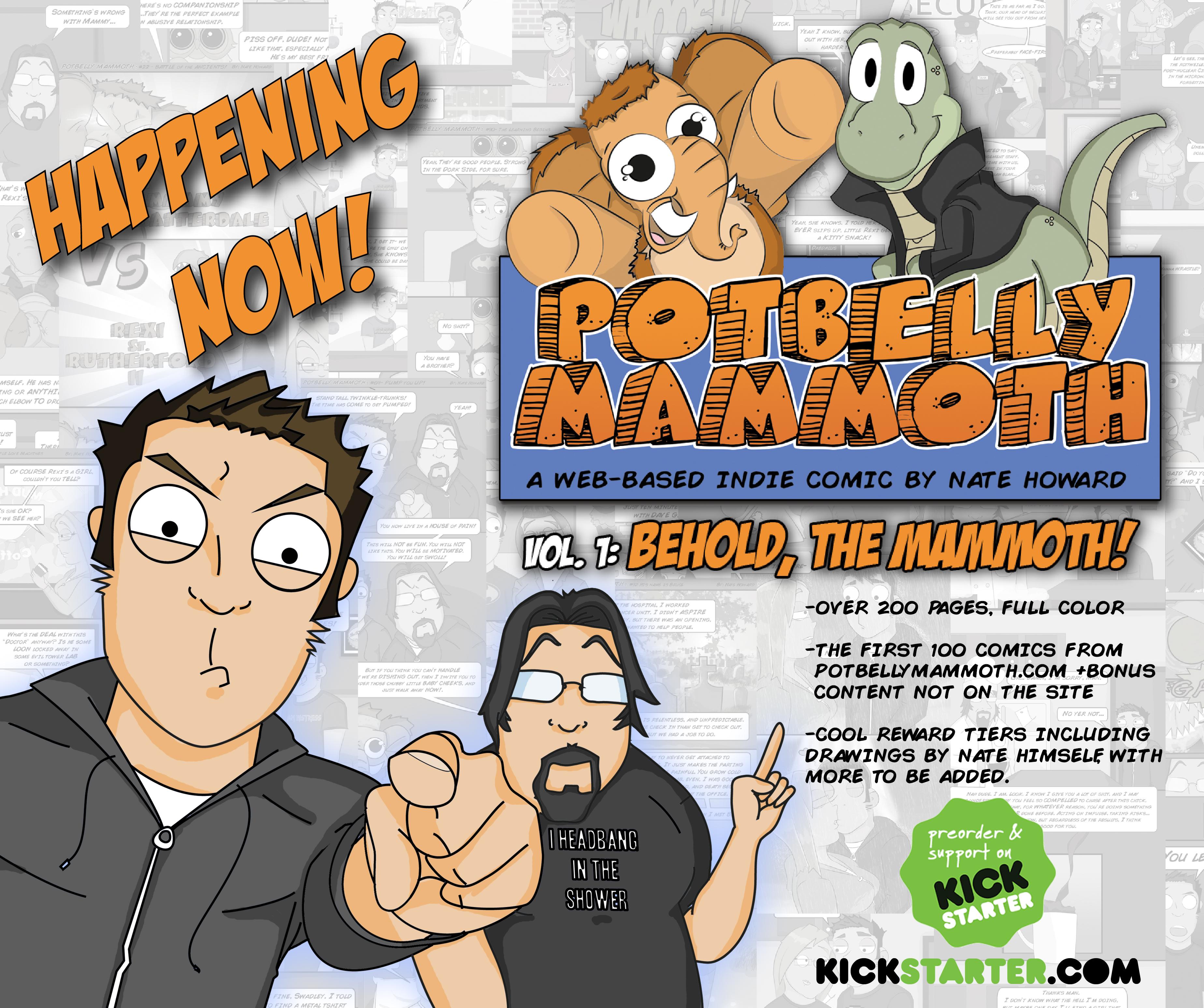 POTBELLY MAMMOTH vol.1: BEHOLD, THE MAMMOTH! on KICKSTARTER!